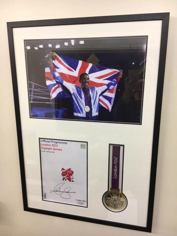 Sports frames and memorabilia