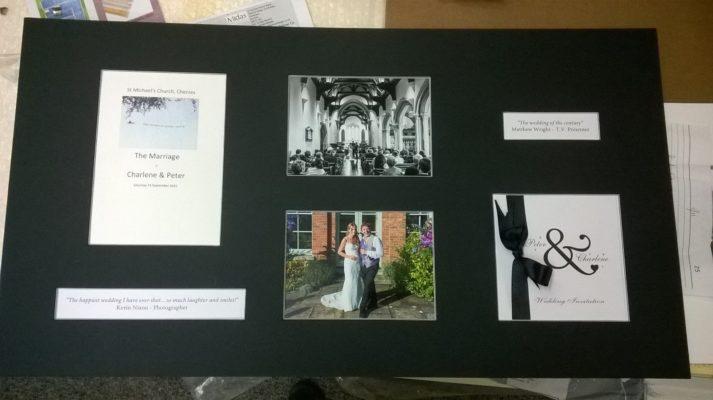 Wedding memorabilia and invitations